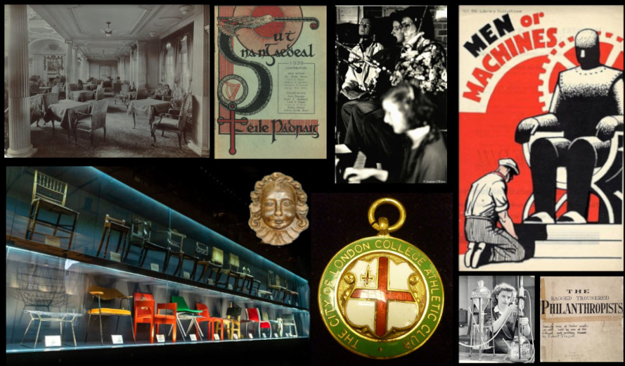 montage of images from the Special Collections including Frederick Parker and TUC library
