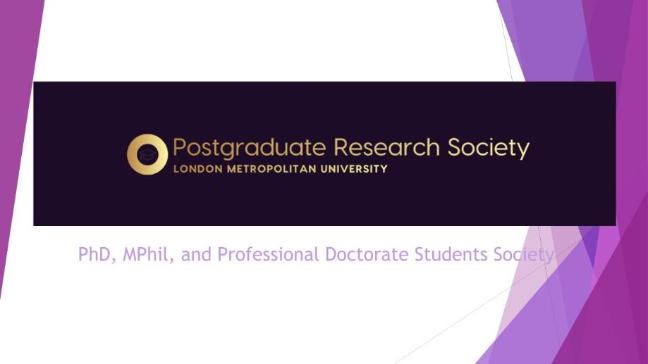 The Postgraduate Research Society